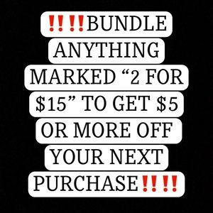 """👾 BUNDLE ANY ITEM LISTED WITH """"2 For $15"""" 👾"""